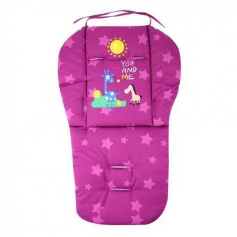 Baby Stroller Cushion Pram Seat Pad Waterproof(Purple) - intl - 2