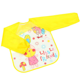 Baby Waterproof Todder Long Sleeve Chic Art Smock Cute Self Feeding Bib Apron 07 (Intl)