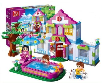 Banbao City Girl's Dream House Building Blocks Sets 405pcs/lot Building bricks toys for girls Compatible with Lego
