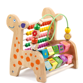Baobao colors early childhood wooden knock piano around the bead