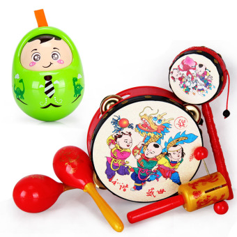 Baobao newborns children's hand drum rattle