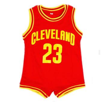 Basketball Romper Cleveland (Red) For Baby 9 to 12 Months Old