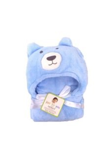 Bear Hooded Blanket (Blue)