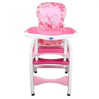 Bestbaby 3 in 1 Adjustable Multi-function Baby Feeding TrayHighchair Rocking Chair(Pink) - 2