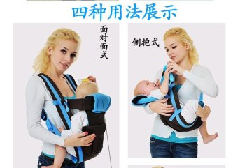 Bethbear Baby Carrier Blue (4 Types Of Carrying Style) (Intl) - picture 2