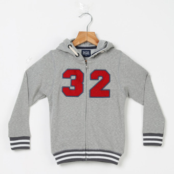 BGS Boys Number 32 Zip-front Hoodie (Gray) Price Philippines