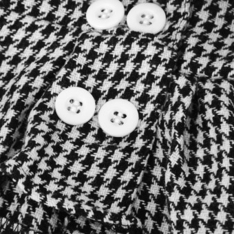 Black and White Checked Coat with Skirt For American Doll 18 Inch - picture 2