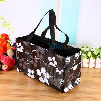 Black Waterproof Baby Changing Diaper Nappy Organizer Tote Floral Bag Handbag - intl - 3