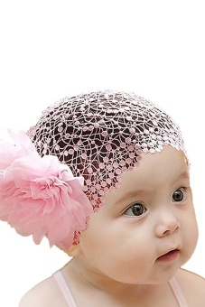 Bluelans® Baby Girl Flower Headband Elastic Hairband - Pink - picture 2
