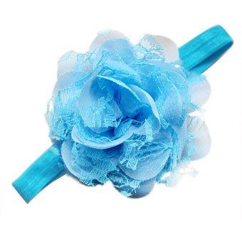 Bluelans® Infant Toddler Girl Flower Headband Floral Hair Band Headdress Light Blue