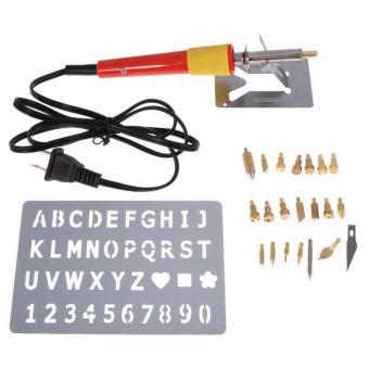 BolehDeals 24pcs 110V 30W Wood Burning Pen Soldering Set PyrographyKit Tool US Plug - intl - 5