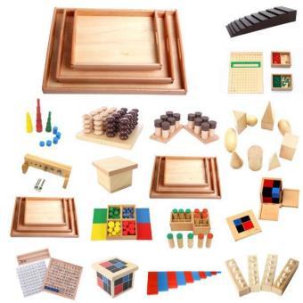 BolehDeals Set of Knobbed Cylinder Blocks Kids Childrens Educational Toy - intl - 4