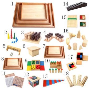 BolehDeals Set of Knobbed Cylinder Blocks Kids Childrens Educational Toy - intl - 3