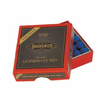 Brunswick Snooker Leather Cue Tips (13 mm) with Free Brunswick Snooker Leather Cue Tips (13 mm) - 2