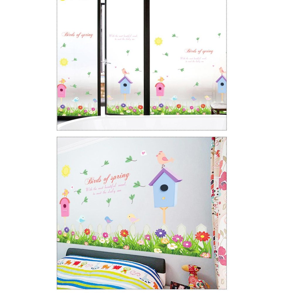 Philippines C Flowers And Plants Bird House Skirting Line Wall Wallpaper Sticker 42 Decalhome Paper Pvc Murals
