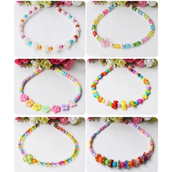 Candy Colors DIY Wear Beads for Bracelet Kids Toys Geometric ShapePersonalized Jigsaw Puzzle - intl - 5