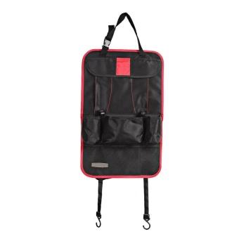 Car Seat Back Multi-Pocket Storage Bag Holder Organizer Hanger NetAuto Accessory Red - intl - 2