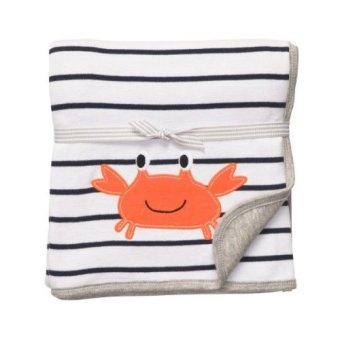 Carter's 2-Ply Cuddle Me Blanket (Striped Crab)