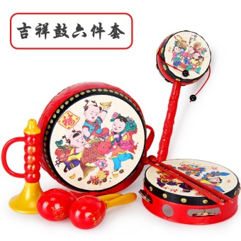Cartoon newborns kindergarten children's rattle wavy drum