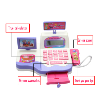 Cash Register Toy Supermarket Toy Display and Scanning Function Kid Education (Multicolor) - picture 2