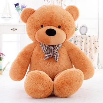 CatWalk Intimate Stuffed Animal Teddy Bear Plush Soft Toy 60CM(Light Brown) - 2