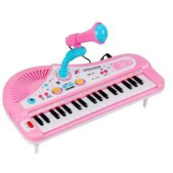 Children Kids 31 Keys Multifunctional Mini Simulation Piano Toy with Microphone Electrical Keyboard Electone Music Toy Gift