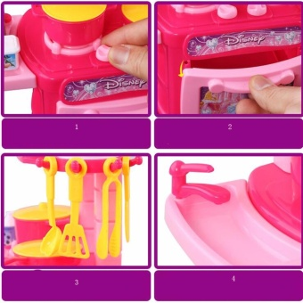 Children Play Toy Kitchen Cooking Simulation Table Set TablewareGirl Toys Miniature cooktops Cookware Utensils Furniture - intl - 2