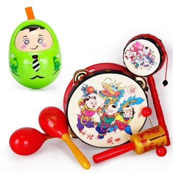Children's early childhood music drum rattle