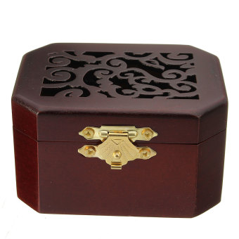 CLASSIC OCTAGON WOOD WIND UP MUSIC BOX:CASTLE IN THE SKY - 3