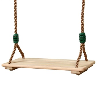 Classic Wooden Swing Seat with Strong Swing Rope Height-adjustable Hanging Swing for Indoor Outdoor - intl - 3