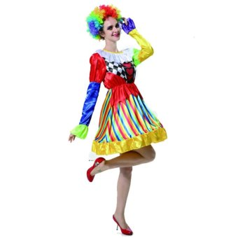 Clown Cosplay Halloween Costumes for Adult Women Dress Size160-175CM - intl
