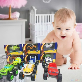 Cool baby Kids Baby Blaze And The Monster Machines Vehicles Diecast Car Toys Good Gifts - intl - 3