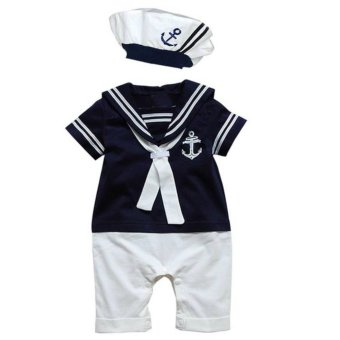 Cool Elves Nautical Sailor Romper - Blue