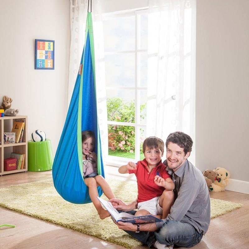 ... Cotton Hammock Pod Swing Chair Kid Hanging Seat Portable  CampingFurniture Hang Bed Children Indoor Outdoor Hammock ...