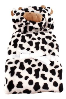 Cow Hooded Blanket (Black/White) - picture 2