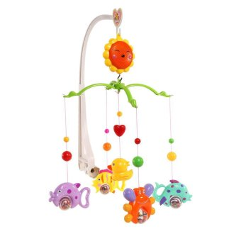 Crib Bell Wind-up Music Bed Toy For Baby Colorful - Intl