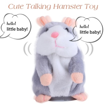Cute Talking Hamster Toy Sound Record Speaking Plush Toys EarlyLearning Kids Gift(Gray) - intl