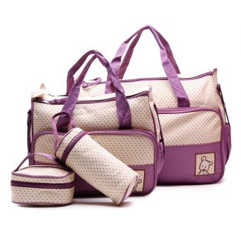 Cutie 5 Piece Set Diaper Bag (Violet) - picture 2