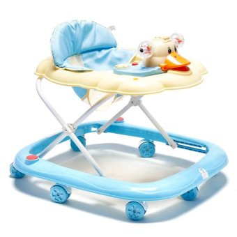 Cutie First Steps Baby Walker with Safety Bump Guard (Blue)