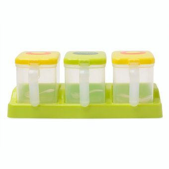 Cutie Milk Container (Apple Green) with spoon - 3