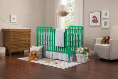 davinci jenny lind 3in1 convertible crib with toddler bed conversion kit emerald