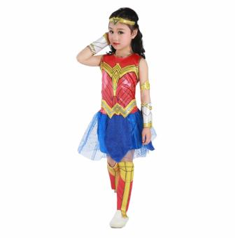 DCB Wonder Woman Costume 2017 Girls Dress Deluxe Size Small Age 3-4years old - 2