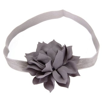 DHS Baby Girls Flower Headband Hair (Grey) - Intl - picture 2