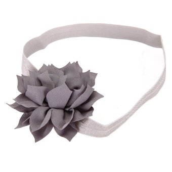 DHS Baby Girls Flower Headband Hair (Grey) - Intl