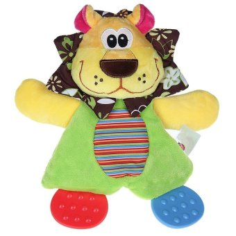 DHS Child Baby Lion Style Comfort Blanket Handkerchief Towel Soft Toy - Intl