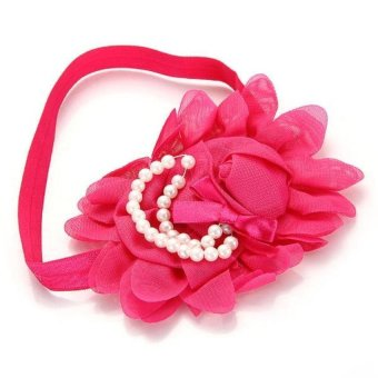 DHS Flower Hairband Elastic Magenta - Intl - picture 2