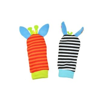 DHS Infant Baby Rattles Toys Developmental Socks Random Color - Intl - picture 2