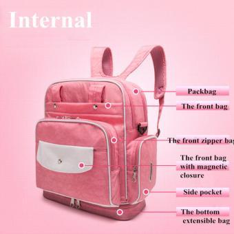 Diaper Bag Mommy Bag Nappy Backpack Changing Bag Shoulder Bag SlingBag Multifunction Baby Bottle Holder Bag - 3