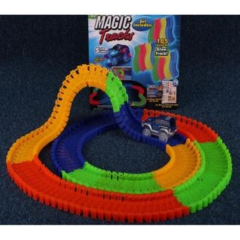 DIY Magic Tracks with Glowing Race Car for Kids(165tracks- 2cars) - 2