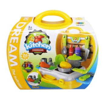 Dream The Suitcase Kitchen Cooking Play Set for KIDS Boy &Girls Toy Set